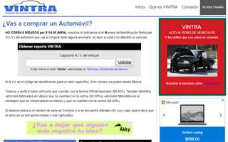 Desarrollo Web vintra.com.mx